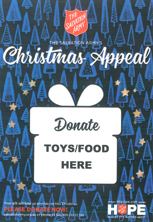 Salvos Christmas Appeal poster
